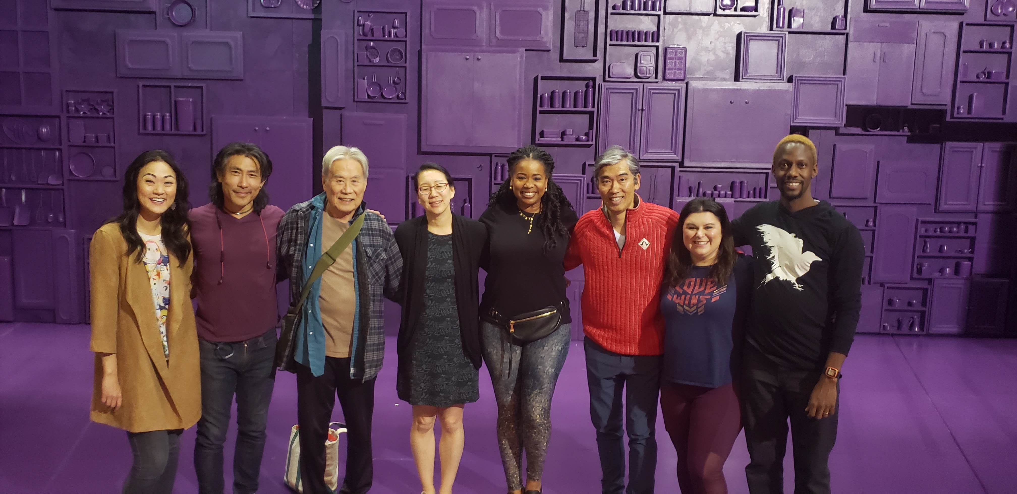 Julia Cho with Cast over opening weekend